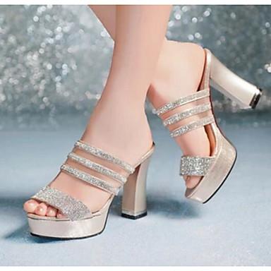 Damen Schuhe PU Frühling Komfort High Heels Für Normal Weiß Schwarz Blau Hellblau