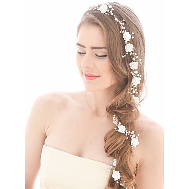 Imitation Pearl Headbands / Head Chain with 1 Wedding / Special Occasion / Birthday Headpiece