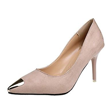 Damen Loafers & Slip-Ons Komfort Kaschmir Sommer Normal Walking Metall Zehen Stöckelabsatz Schwarz Gelb Hautfarben 7,5 - 9,5 cm
