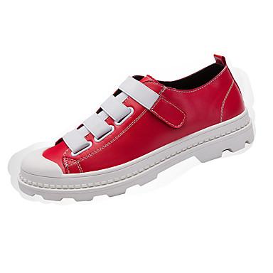 للرجال أحذية PU صيف خريف مريح أحذية رياضية لزيق سحري إلى رياضي فضفاض الأماكن المفتوحة أبيض أسود أحمر