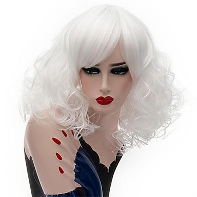 Szintetikus parókák Göndör Bob frizura Sűrűség Sapka nélküli Női Pink Fehér Természetes paróka Közepes Szintetikus haj