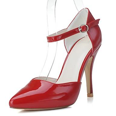 Női Cipő Lakkbőr Tavasz / Nyár Formai cipő Magassarkúak Tűsarok Erősített lábujj Fehér / Piros / Mandula / Party és Estélyi / Ruha