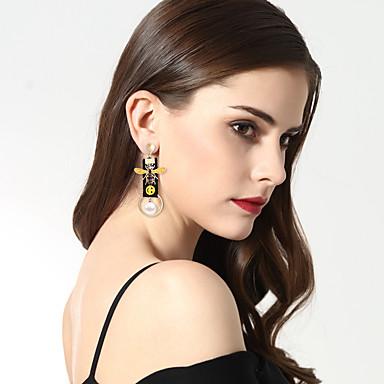 Női Luxus / Eltérés / Bikini Mások Gyöngyutánzat Gyöngyutánzat Rendhagyó fülbevalók - Luxus / Eltérés / Nyilatkozat Fehér / Fekete