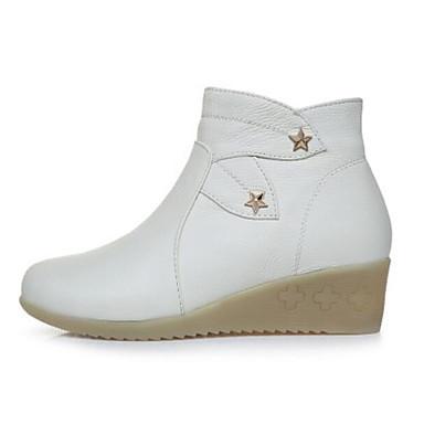 Damen Schuhe PU Winter Komfort Stiefel Für Normal Weiß