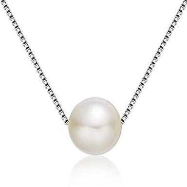 Damen Anhängerketten Imitierte Perlen Geometrische Form Sterling Silber Personalisiert Modisch Schmuck Für Hochzeit Party Alltag