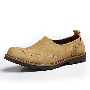 Męskie Komfortowe buty Skóra / Derma Wiosna / Jesień Mokasyny i buty wsuwane Kawowy / Żółtobrązowy / Khaki