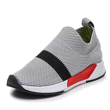 Jungen Schuhe Tüll Frühling Herbst Komfort Loafers & Slip-Ons Walking Kombination Für Normal Schwarz Grau Grün