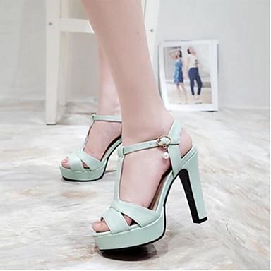 Damen Schuhe PU Sommer Komfort Loafers & Slip-Ons Für Normal Beige Grün