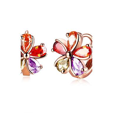Női Virág Cirkonium Francia kapcsos fülbevalók - Divat Szivárvány Fülbevaló Kompatibilitás Esküvő / Napi / Hétköznapi