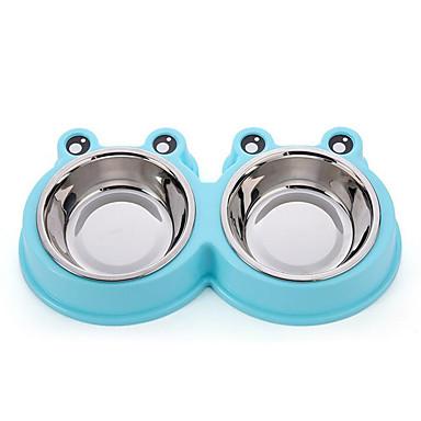 L قط / كلب الطاسات وزجاجات حيوانات أليفة السلطانيات والتغذية مقاوم للماء / المحمول / قابل للسحبقابل للتعديل لون عشوائي