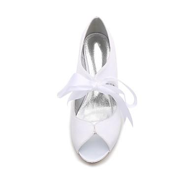 Heel Chaussures Kitten 06096603 de Eté Bas Talon mariage Escarpin Bout Confort Aiguille Femme Talon Printemps Basique Chaussures Satin Pd8WW4Tvq