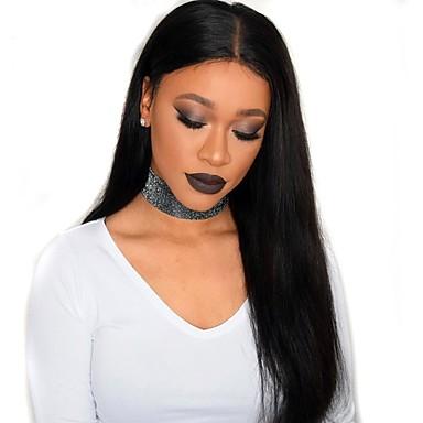 Remy haj Csipke Paróka Egyenes 180% Sűrűség Természetes hajszálvonal / Afro-amerikai paróka / 100% kézi csomózású Női Rövid / Közepes / Hosszú Emberi hajból készült parókák