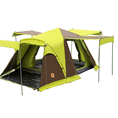 CAMEL 3-4 persons Tent Double Camping Tent Two Rooms Fold Tent Well-ventilated Waterproof Dust Proof Foldable for Camping / Hiking >3000mm