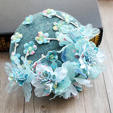abordables Coiffes-Tulle / Mousseline de soie / Tissu Fascinators / Chapeaux / Pince à cheveux avec 1 Mariage / Occasion spéciale / Anniversaire Casque