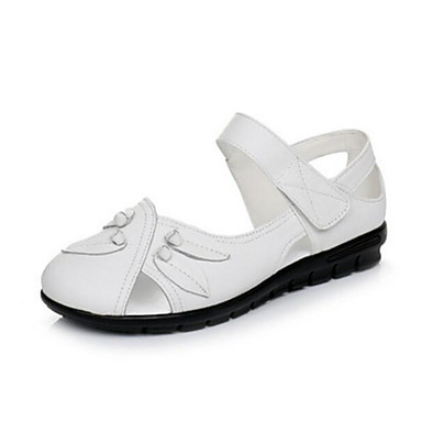 Damen Schuhe PU Sommer Komfort Sandalen Für Normal Weiß Schwarz Grau