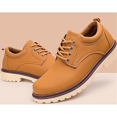 Herren Outdoor Komfort formale Schuhe Frühling Herbst PU Normal Schwarz Hellgelb Blau Flach