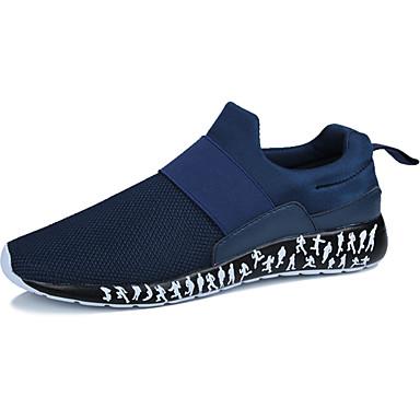 Herren Sneaker Mokassin Tüll Frühling Herbst Normal Flacher Absatz Schwarz Rot Blau 7,5 - 9,5 cm