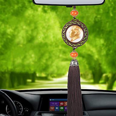 Diy autóipari függők előkelő egyoldalú elnöke mao autó medál&Díszek kristály jade