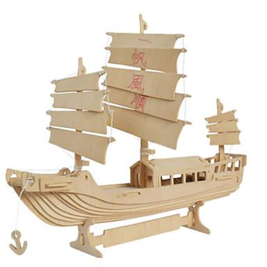 3D építőjátékok Fejtörő Wood Model Harcos Népszerű épület Ház Fa Uniszex Ajándék