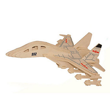 voordelige 3D-puzzels-3D-puzzels Legpuzzel Houten modellen Tank Vliegtuig Vechter Puinen Natuurlijk Hout Kinderen Unisex Speeltjes Geschenk