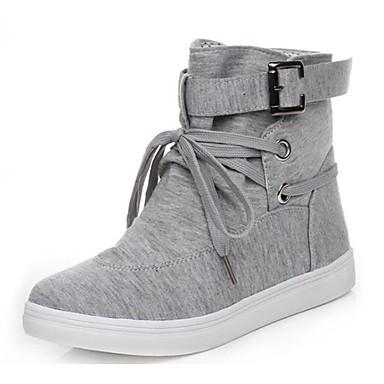 Damen Schuhe Atmungsaktive Mesh PU Sommer Komfort Sneakers Für Normal Schwarz Grau
