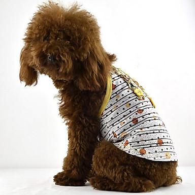 Hund Kleider Hundekleidung Sterne Gelb Rot Grün Baumwolle Kostüm Für Haustiere Sommer Herrn Damen Lässig / Alltäglich