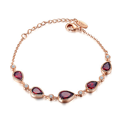 Women's AAA Cubic Zirconia Chain Bracelet - Gold Plated Drop Bohemian, Fashion Bracelet Gold For Party / Gift