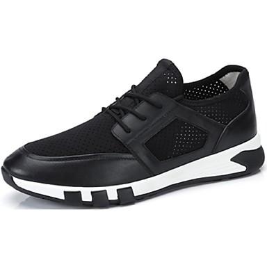 Herren Schuhe Nappaleder Frühling Herbst Komfort Sneakers Schnürsenkel Für Normal Schwarz Blau