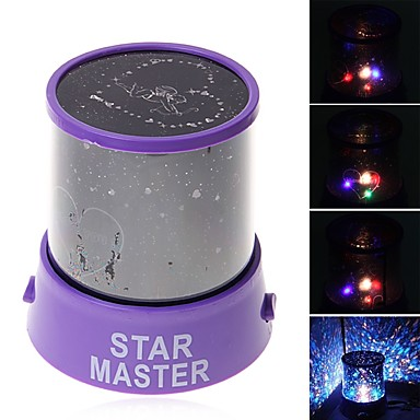 Csillogó éjszakai fény LED világítás Projektorlámpa ABS Romantikus 1pcs Darabok Gyermek Ajándék