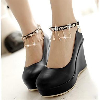 Damen Schuhe Nubukleder PU Frühling Komfort High Heels Für Normal Schwarz Beige Rosa