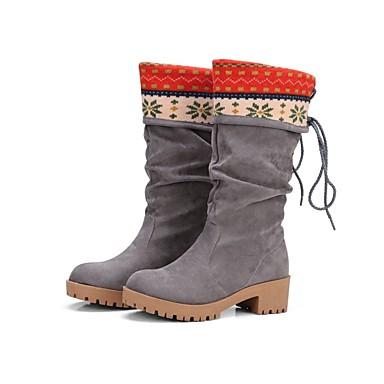 Damen Schuhe maßgeschneiderte Werkstoffe Winter Komfort / Neuheit / Gladiator Stiefel Walking Flacher Absatz / Niedriger Heel / / Quaste
