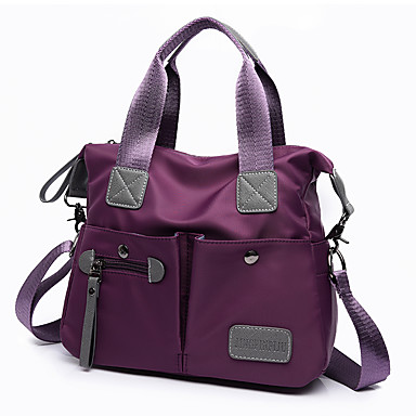 Women's Bags Nylon Tote for Event / Party / Formal / Outdoor Black / Purple / Fuchsia