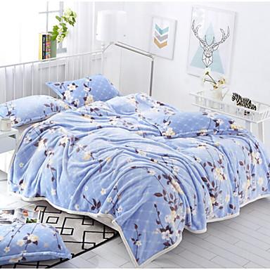 Flanell Blumen Polyester/Baumwollgemisch Decken