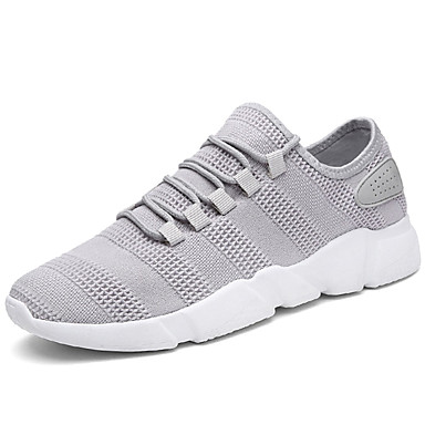 Men's Tulle Spring / Fall Comfort Athletic Shoes Walking Shoes White / Black / Gray