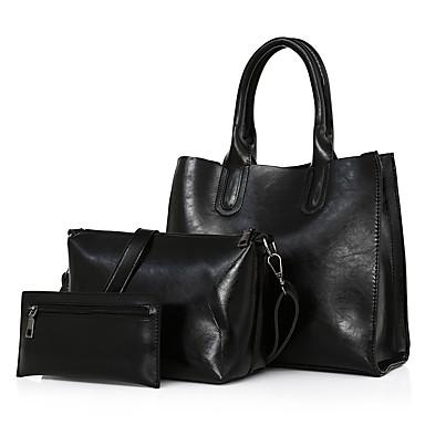 Damen Taschen PU Bag Set Reißverschluss für Normal Büro & Karriere Draussen Rote Grau Braun