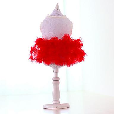 Hund Kleider Hundekleidung Prinzessin Gelb Rot Grün Rosa Chiffon Baumwolle Kostüm Für Haustiere Sommer Herrn Damen Lässig / Alltäglich