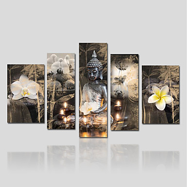 Rolled Canvas Prints Five Panels Canvas Vertical Panoramic Print Wall Decor Home Decoration