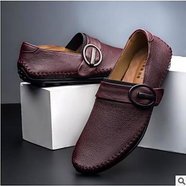 Férfi cipő Bőr Tavasz Kényelmes Félcipők Fekete / Barna / Piros