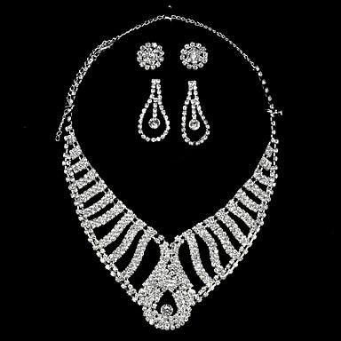 Női Luxus Szív Strassz Nyakláncok  -  Luxus Divat Fehér Nyakláncok Kompatibilitás Esküvő Parti Eljegyzés