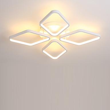 4-Light Flush Mount Ambient Light Painted Finishes Metal Silica gel Bulb Included, Designers 110-120V / 220-240V Warm White / White LED Light Source Included / LED Integrated