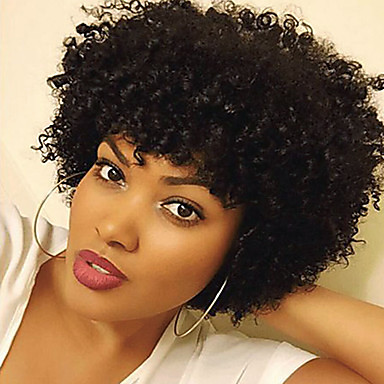 Synthetic Wig Curly Synthetic Hair African American Wig Wig Women's Short Capless