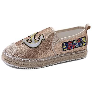 Damen Loafers & Slip-Ons Leuchtende Sohlen Paillette Sommer Normal Kleid Walking Flacher Absatz Gold Schwarz Silber Flach