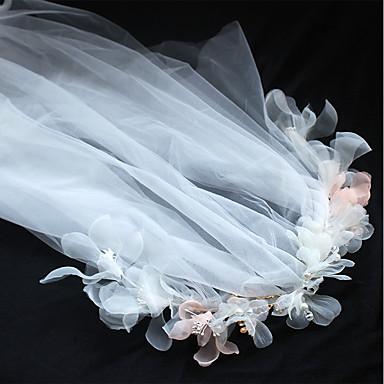 Tüll Chiffon Stoff Seide Netz Stirnbänder Blumen Kopfschmuck