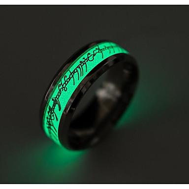 Férfi Band Ring - Titanium Acél Divat 6 / 7 / 8 / 9 / 10 Arany / Ezüst Kompatibilitás Napi