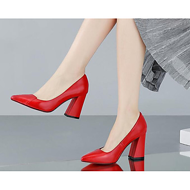 Mujer Zapatos Cuero de Napa Verano Confort / Pump Básico Sandalias Tacón Cuadrado Blanco / Negro / Rojo Amazone À Vendre Parfait Pas Cher Peu Coûteux Meilleur Jeu Sortie Professionnelle Lwwwp5dfH