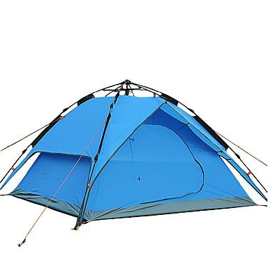 3-4 személy Huzat & Ponyva / Sátor tartozék Dupla kemping sátor Külső Összecsukható sátor Szélbiztos / Összecsukható / Légáteresztő mert