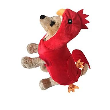 Hund Kostüme Hundekleidung Cosplay Tier Gelb Rot