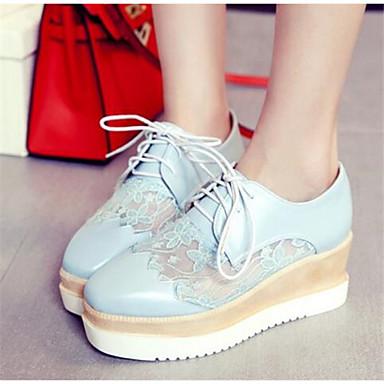 Damen Schuhe Nubukleder PU Herbst Komfort Loafers & Slip-Ons Für Normal Weiß Blau Rosa