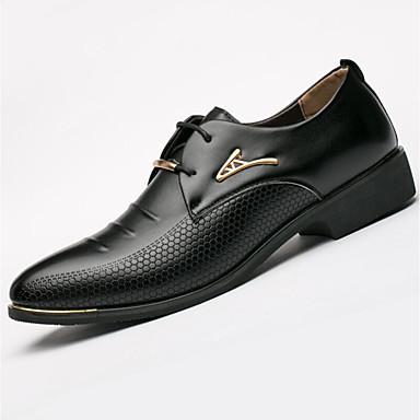 Férfi cipő Mikroszálas Tavasz Ősz Formai cipő Félcipők Szegecs mert Hétköznapi Hivatal és karrier Szabadtéri Fekete Barna