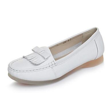 Damen Schuhe PU Sommer Komfort Loafers & Slip-Ons Für Normal Weiß Schwarz Rot